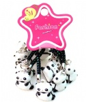 black white lucky panda ring