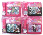 Monster High watches and wallet set