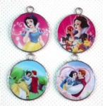 princess snow white Mermaid round pendant