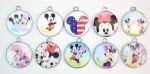 mickey minnie mouse round pendant