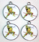 Teenage Mutant ninja Turtles round pendant