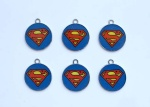 superman round pendant new