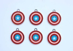 captain american round pendant new