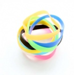 Blank Solid silicone bracelet