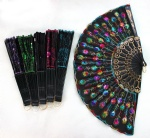 high quality chinese silks flower wooden fan New