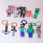 minecraft action figure keychain