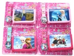 frozen anna elsa kids wallet and watch set