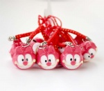 Animation Movie Garfield Strap & Bell Charms Red