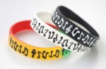 Musical Note/Piano Wristband Silicone Bracelets