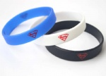 Cartoon Hero Superman Logo Wristband Silicone Bracelets