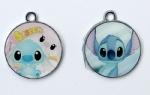 Animation Disney Lilo & Stitch Cartoon Metal Round Pendants