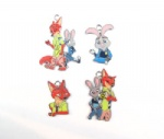 Zootopia Judy Hopps/Nick Wilde Metal Pendants