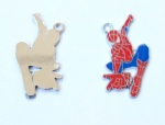 Marvel Comics Character Spider-Man Metal Pendants Red