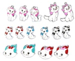 Disney Animal Character Mary cat Metal Pendants White