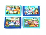 Cartoon Police Car Poli Trifold Wallet