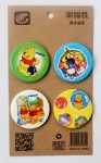 Disney Animation Winnie the pooh 4.3CM Cartoon Badge and Buttons