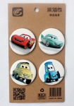 Disney Pixar Cars 4.3CM Cartoon Badge and Buttons