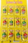 Character Model Super Mario Head 3D PVC Key Chain