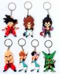 Anime Cartoon Dragon Ball Z Son Goku Vegeta PVC Keychains