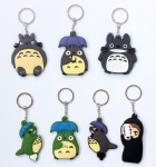 Classic Anime My Neighbor Totoro /No face man Double sided PVC Keychains