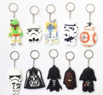 Different Style Star Wars Double sided PVC Keychains