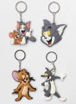 Animation Tom and Jerry Cartoon Double sided PVC Keychains