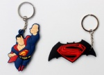 Superman Logo Double sided PVC Keychains