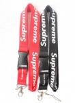 Supreme Lanyard Black Red