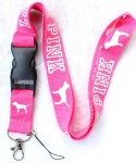 Love pink lanyard light pink/white
