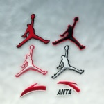 Jordan ANTA NIKE ADIDASS DIY Fabric Patch Sticker