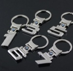 BMW Digital Numbers Car Logo Keychain