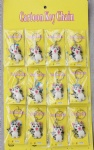 Keychains A 12-piece Cat Shape