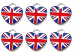 Union Jack heart-shaped Metal Charms pendants