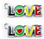 LOVE Design Alloy DIY Metal Charms Jewelry Making pendants