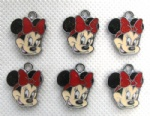 Minnie Mouse Red Head Figures Charms Pendants