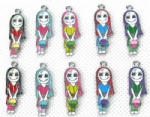 The Nightmare Before Christmas Jewelry Making Metal Charm pendants