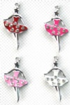 Dance Girl`s Alloy Enamel Pendants