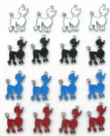 Cute Lady dog Figure Pendant Charms