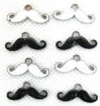 Moustache Jewelry Making Metal Charm pendants