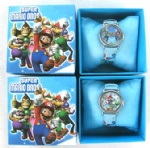Super Mario Bros Cartoon Boy Watch Wristwatches W Boxes